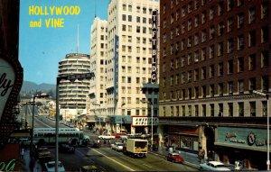 California Hollywood Hollywood Boulevard and Vine 1968