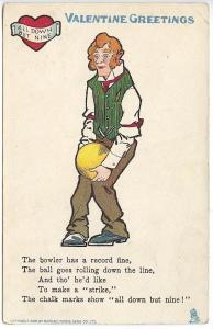 Raphael Tuck Valentine Greetings The Bowler Postcard