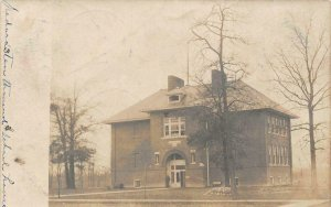 RPPC School House, Medora, Illinois 1907 Vintage Postcard