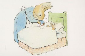 Peter Rabbit Ill In Bed The Tale Of Beatrix Potter 1902 Book Postcard
