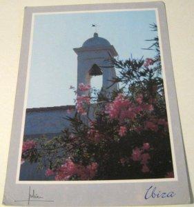 Spain Ibiza Campanario Iglesia San Rafael - posted 1994