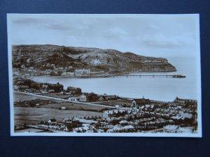 Wales LLANDUDNO BAY & Great Orme c1931 RP Postcard by Valentine