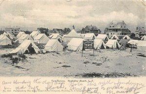 LP54 Rockaway Beach Long Island  New York Postcard  Tent Colony
