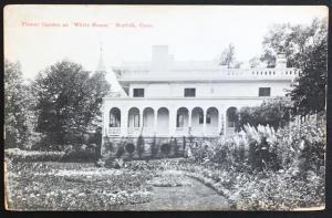 Flower Garden at White House Norfolk Conn Geo T Johnson Drug Co