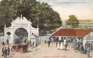 Milwaukee WI Fancy Entrance Arch to State Fair Park~Ticket Booth~c1910 As Is