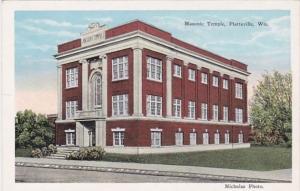 Wisconsin Platteville Masonic Temple