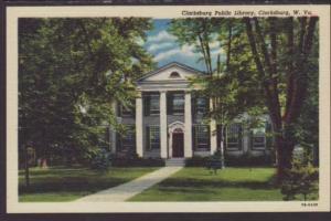 Clarksburg Public Library,Clarksburg,WV Postcard