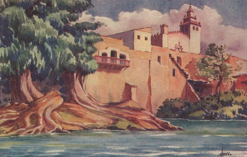 Ixmiquilpan Antique Mexican Painting Postcard