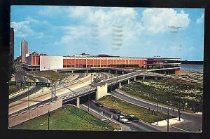 Detroit, Michigani/MI Postcard, Cobo Hall & Expressways, Old Cars, 1961!