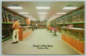 Findlay Ohio~Jaquas Fine Guns~Showroom Interior~1970s PC