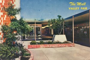 1960 Valley Fair Shopping Mall San Jose California Postcard Vintage