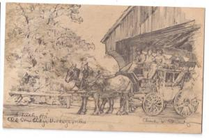 Sturbridge Village MA Tally Ho Artist Charles H Overly