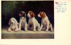 Four Beautiful Pups.   Artist: Fox