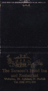 The Saracens Head Inn Wolterton Aylsham Norfolk Pub Matchbox Label