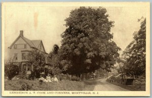 MONTVILLE NJ RESIDENCE of A.T.COOK ANTIQUE POSTCARD