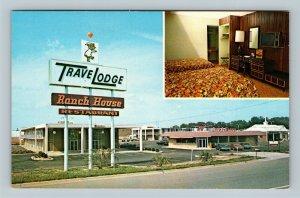 Tifton GA, Travel Lodge Motel, Restaurant, Room View, Chrome Georgia Postcard