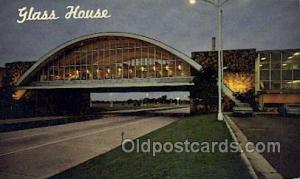 Tulsa Oklahoma USA Glass House Restaurant  Old Vintage Antique Postcard Post ...