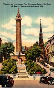 Maryland Baltimore Washington Monument First Monument Erected In Honor Of Geo...