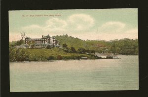 Vintage Port Antonio from Navy Island Jamaica UPU Color Postcard