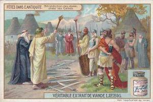Liebig Trade Card Festivals Ancient Times II No 3 Benediction des epees chez ...