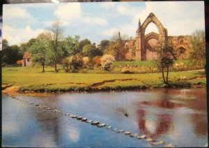 England Bolton Abbey Stepping Stones Wharfedale - posted