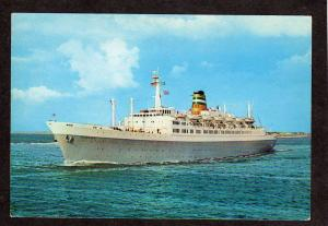 SS Statendam Holland America Steamer Ship Steamship Steam Ship Postcard Cruise