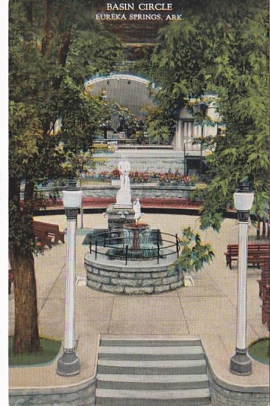 Arkansas Eureka Springs Basin Circle 1946 Curteich