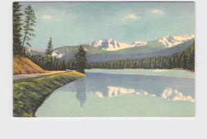 VINTAGE POSTCARD NATIONAL STATE PARK YELLOWSTONE SYLVAN LAKE