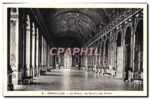Old Postcard Versailles Palace Galerie Des Glaces