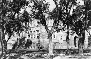F53/ McCook Nebraska RPPC Postcard c1940s Senior High School