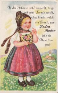 Germany Gruss Aus Baden_Baden Schoenes Maedchen