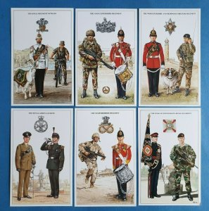 The British Army Infantry Regiments Postcards Set of 6 Set 2 by Geoff White Ltd