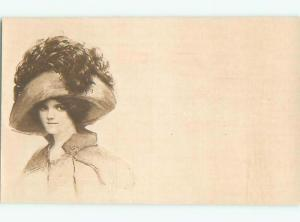 Divided-Back PRETTY WOMAN Risque Interest Postcard AA7883