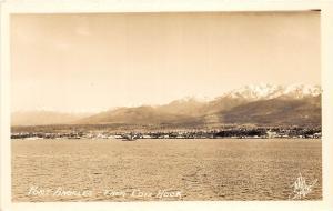 D32/ Port Angeles Washington WA RPPC Real Photo Postcard c40s From Ediz Hook