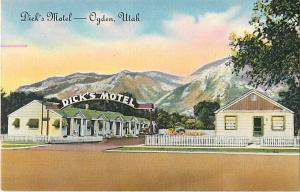 Dick's Motel Ogden Utah UT 3310 Washington Blvd. Linen PC