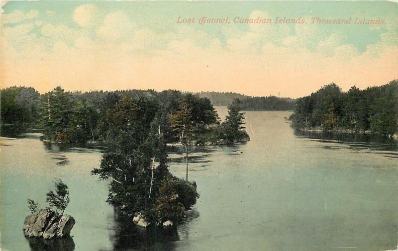 Thousand Islands Canada~Lost Channel of Canadian Islands~1910 Postcard