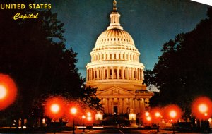 Washington D C United States Capitol At Night