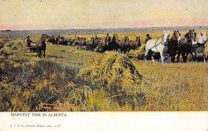 Harvest Time Alberta, Canada Farming Unused