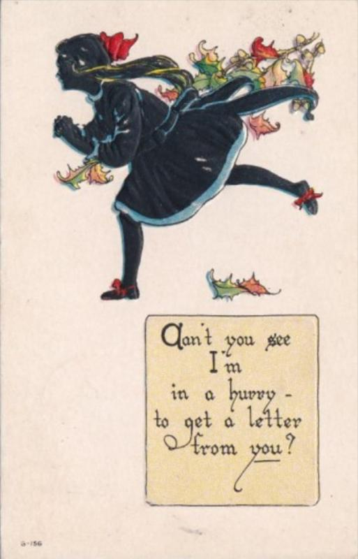 Young Girl Running Can't You See I'm In A Hurry 1920