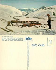 Sun Valley Lodge from Penny Mountain, Skiing, Idaho, ID, Chrome