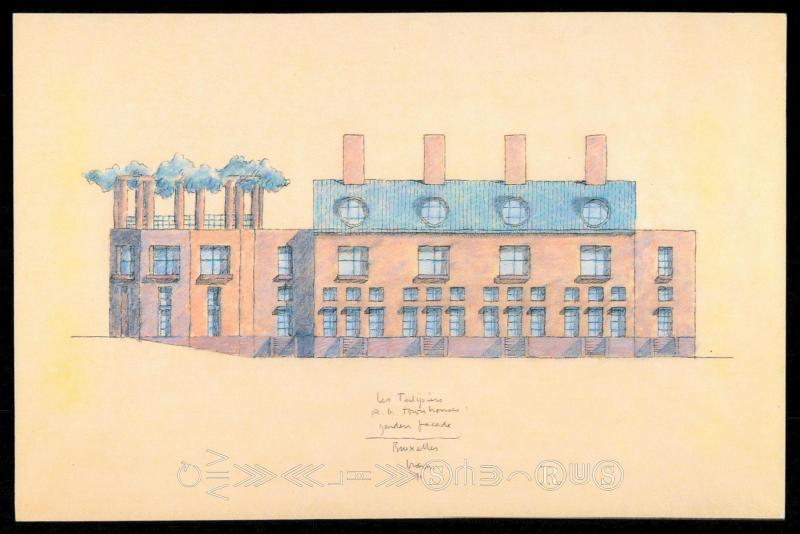 The Tulips and the Elms Townhouse - Garden Elevation Study