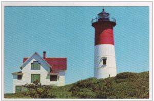 Nauset Lighthouse Eastham Massachusetts postcard