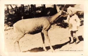 Grand Canyon Committee Little Girl Deer Real Photo Antique Postcard K57666