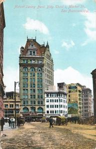 Mutual Savings Bank Building. 3rd & Market St. San Francisco, CA Postcard