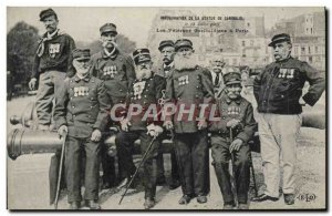 Old Postcard Army Inauguration of the statue of Garibaldi July 13, 1907 By Th...
