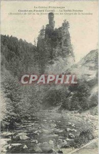 Old Postcard Picturesque Cantal Condat in Feniers Cantal La Roche Pointue Gor...