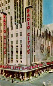 New York City Rockefeller Center Radio City Music Hall 1956
