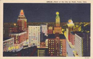 Heart of the City by Night, Tulsa, Oklahoma, 30-40s