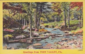 Pennsylvania Greetings From Toby Valley 1951