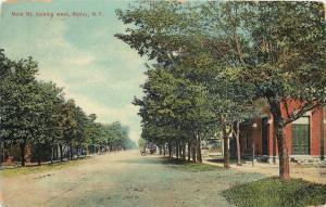 Ripley New York~Main Street West~Buildings~Horse Wagon~Trolley Tracks~1910 PC